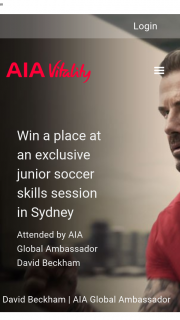 AIA Vitality – Win 1 of 10 Double Passes to Join an Exclusive Junior Soccer Skills Session for 8-12 Year Olds (prize valued at $18,570)