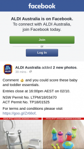 Aldi Australia – Win a $1000 Macquarie Centre