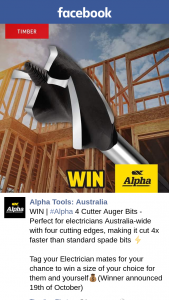 Alpha Tools – Win | #alpha 4 Cutter Auger Bits