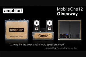 Amphion – Win an Amphion Mobileone12 Monitoring System