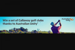 Australian Unity – Win a Callaway Golf Club Set Worth $3370 From Australian Unity (prize valued at $3,370)
