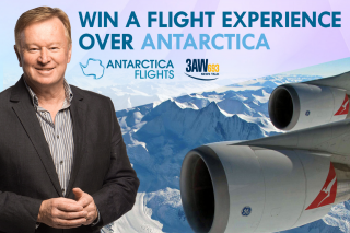 3aw Vic – Win a New Year's Eve Flight Experience Over Antarctica (prize valued at $2,938)