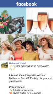 Balmoral Hotel – Win Our Melbourne Cup VIP Package for You and Your Friends