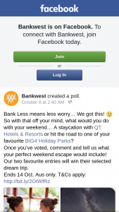 """Bankwest Round 4 – You Must (""""eligibility Criteria"""") (prize valued at $549)"""