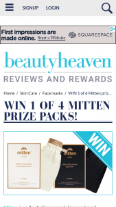 Beauty Heaven – Will Score a Mitten Prize Pack