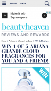 Beauty Heaven – Win 1 of 5 Ariana Grande Cloud Fragrances for You and a Friend