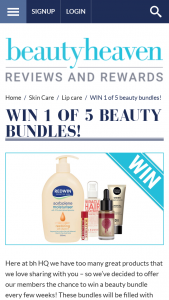 Beauty Heaven – Win 1 of 5 Beauty Bundles