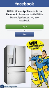 BiRite Home Appliances – Win a Westinghouse Fridge (prize valued at $2,999)