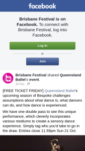 Brisbane Festival – Win a Double Pass to See Qld Ballet's Bespoke