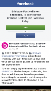 Brisbane Festival – Win The Promotion