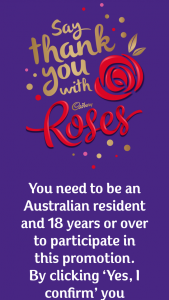 Cadbury Roses – Win a Share of 5000 Boxes of Cadbury Roses Worth $32 (prize valued at $32)