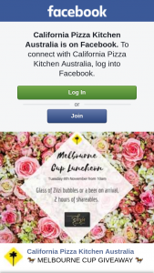 California Pizza Kitchen Hillarys – Win 2 Tickets to Our Melbourne Cup Luncheon at Cpk (prize valued at $100)