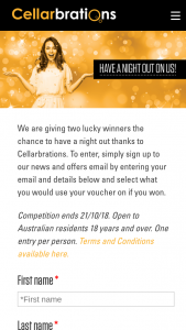 Cellarbrations – Competition (prize valued at $300)