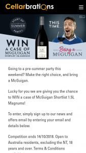 Cellarbrations – Win a Case of Mcguigan Shortlist 1.5l Magnums (prize valued at $390)