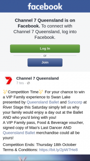 Channel 7 Qld – Win a VIP Family Experience to See Swan Lake at Brisbane Riverstage