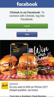 Chimek Chicken – Win an Iphone Xs