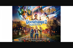 Community News – Win One of 20 Family Passes to See Goosebumps 2 Haunted Halloween