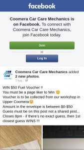 Coomera car care mechanics – Win $50 Fuel Voucher (prize valued at $50)