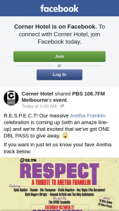 Corner Hotel – a Double Pass to Our Upcoming Aretha Franklin Celebration