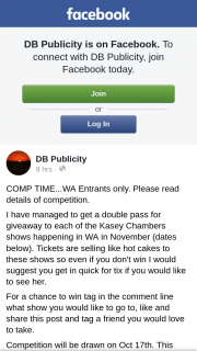 DB Publicity – Win I Would Suggest You Get In Quick for Ticket If You Would Like to See Her