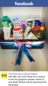Discount Chemist Ripley – Win this Gorgeous Hamper Valued at Over $100 (prize valued at $100)