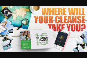 Dr Cabot cleanse – Win 1 of 5 $250 Verge Gift Cards