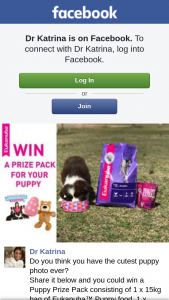 Dr Katrina – Win a Puppy Prize Pack Consisting of 1 X 15kg Bag of Eukanuba™ Puppy Food
