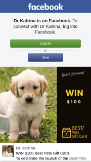 Dr Katrina – Win $100 Best Pets Gift Card (prize valued at $200)