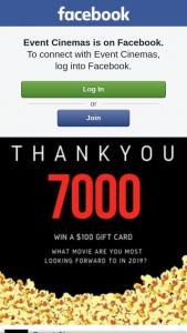 Event Cinemas Pacific Fair – Win a $100 Gift Card