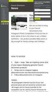 Faucet Strommen – Win a Weber Q2000au (prize valued at $449)