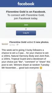 Florentine Gold – Win a 3 Pac..