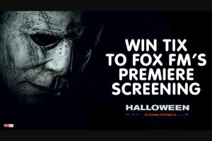 FOX FM – Win Ticket to Fox Fm's Halloween Movie Screening on 23rd October