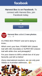 Harvest Box – Win a Whole Box of Of Your Favourite