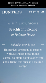 Hunter Lab – Win a Luxurious (prize valued at $8,000)