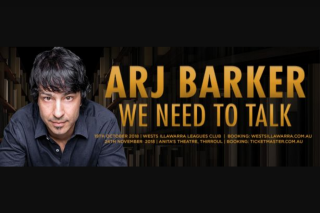 i98fm – Double Passes to See Arj Barker at His Show at West Illawarra Friday October 19