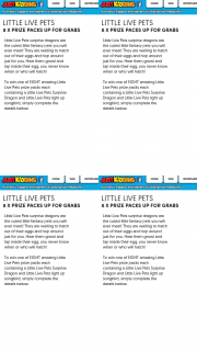 Just Kidding – Win One of Eight Amazing Little Live Pets Prize Packs Each Containing a Little Live Pets Surprise Dragon and Little Live Pets Light Up Songbird