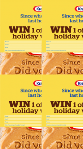 Kraft peanut butter – Win 1 of 30 $1000 Flight Centre Travel Vouchers Toward Your Next Holiday (prize valued at $30,000)