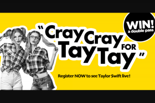 Krock95.5 Geelong – Win a Double Pass to See Taylor Swift Live In Concert at Marvel Stadium on Friday 26th of October
