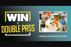 lafm TAS – Win Double Pass to Darren Lehmann Unplugged – Country Club Tas 10/11/18