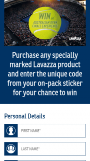 Lavazza-Woolworths/Coles – Win The Major Prize (prize valued at $79.99)