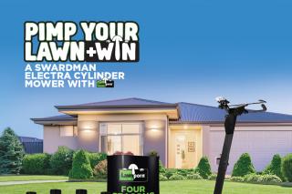 LawnPorn – Win a Swardman Electra Cylinder Mower (prize valued at $4,100)