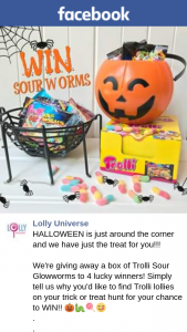 Lolly Universe – a Box of Trolli Sour Glowworms to 4 Lucky