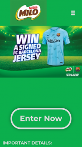 Milo – Win a Fc Barcelona Jersey Signed By The 2017/18 Team