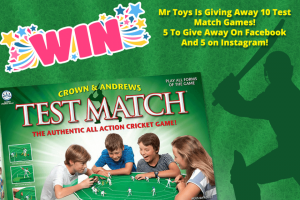 Mr Toys Toyworld – Win a Brand New Test Match Game (prize valued at $400)