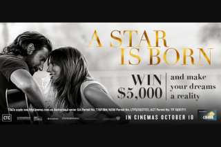 """My Cinema – Win $5000 and Make Your Dreams a Reality"""" My Cinema (prize valued at $19.99)"""