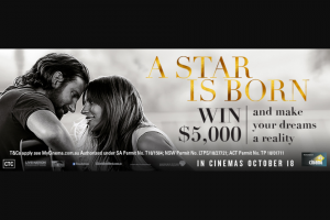 MyCinema – Win a Copy of The Official Soundtrack for a Star Is Born (prize valued at $5,000)