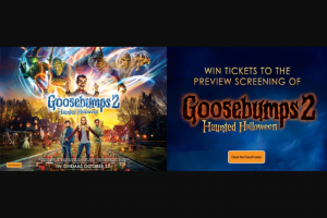 myGC-Hot Tomato – Win Tickets to Special Preview Screening of Goosebumps 2 Haunted Halloween at Event Cinemas Robina on October 24