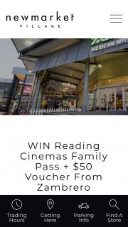 Newmarket Village – Win Reading Cinemas Family Pass $50 Voucher From Zambrero