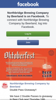 Northbridge Brewing Co – to Beer Club Next Thursday 18th October