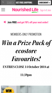 Nourished Life – Win a Prize Pack of Ecostore Favourites (prize valued at $170)